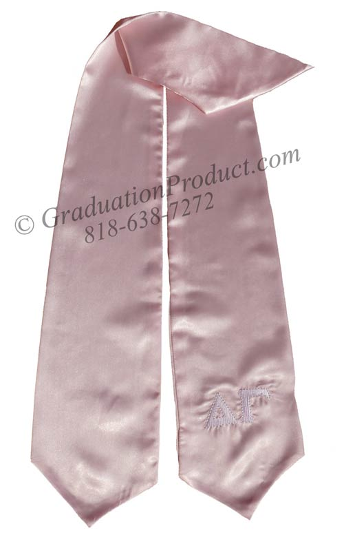 Alpha Gamma Greek Pink Grad Sashes