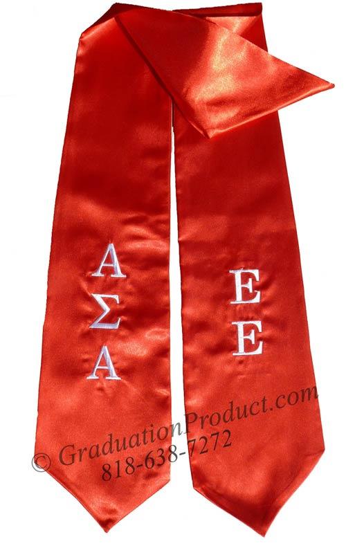 Alpha Sigma Alpha Greek Grad stole