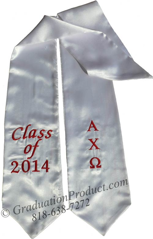 Alpha Chi Omega Greek grad stole