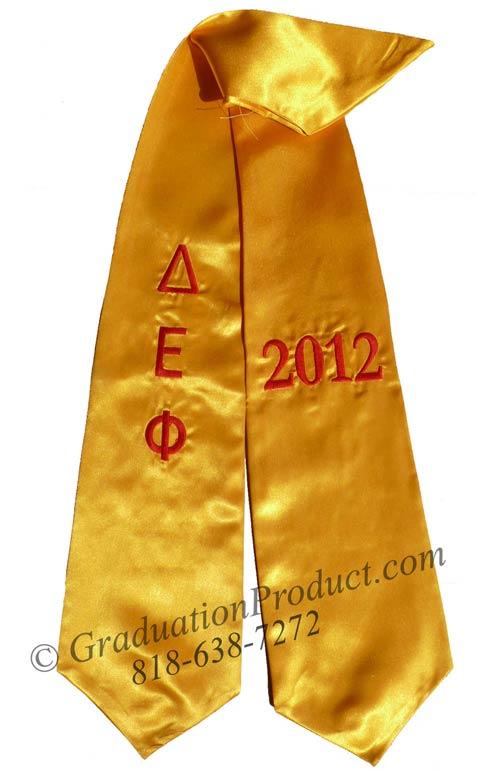 Delta Epsilon Phi Greek Grad Stole