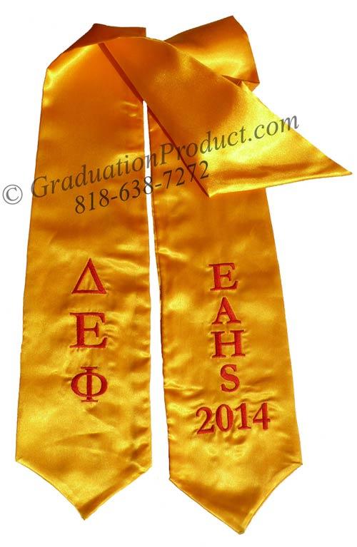 EAHS Delta Epsilon Phi Greek Grad Stole