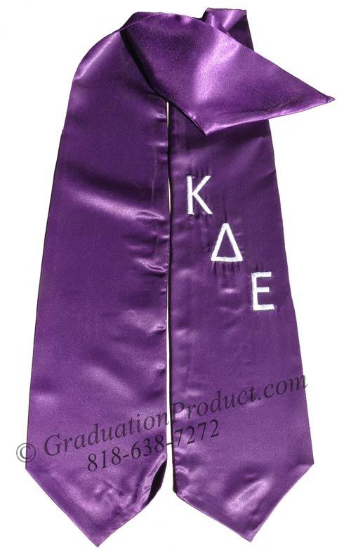 Kappa Delta Epsilon Greek Grad Stole