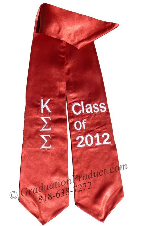 Kappa Sigma Sigma Greek Graduation Stole