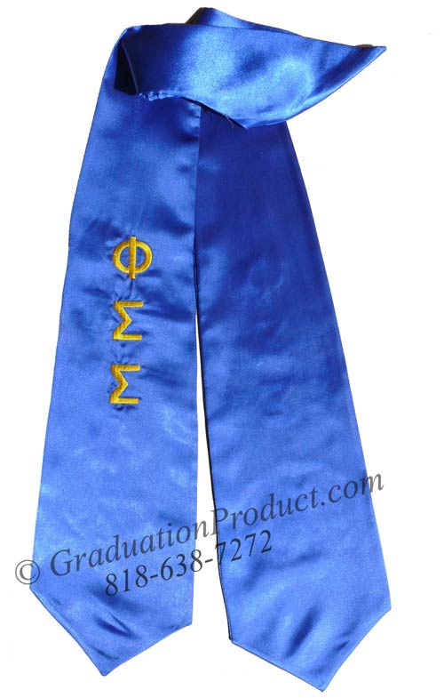 Phi Sigma Sigma Greek Grad Stole