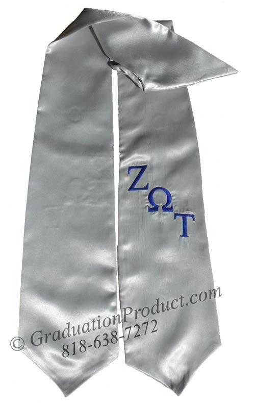 Zeta Omega Tau Greek Grad Stole