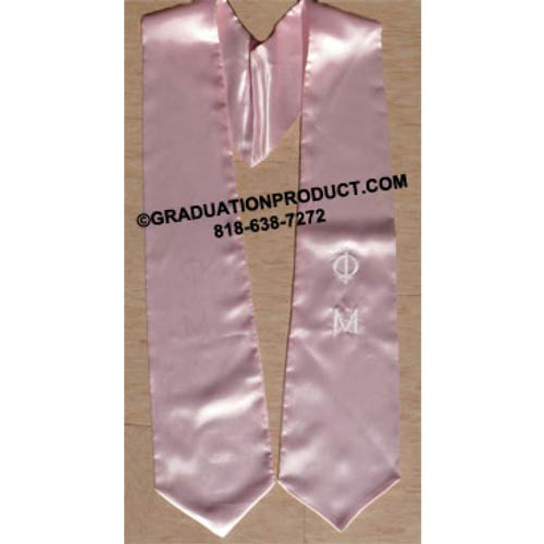 PHI MU Greek Graduation Stole