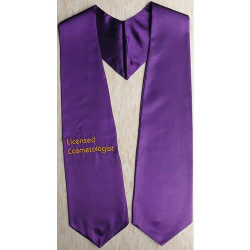 Licensed Casmetologist Graduation Stoles