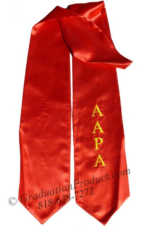 AAPA Graduation Stole