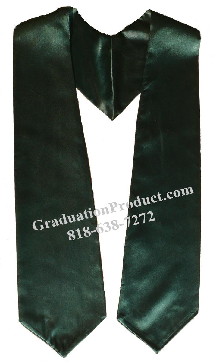 Dark Green Graduation Stole