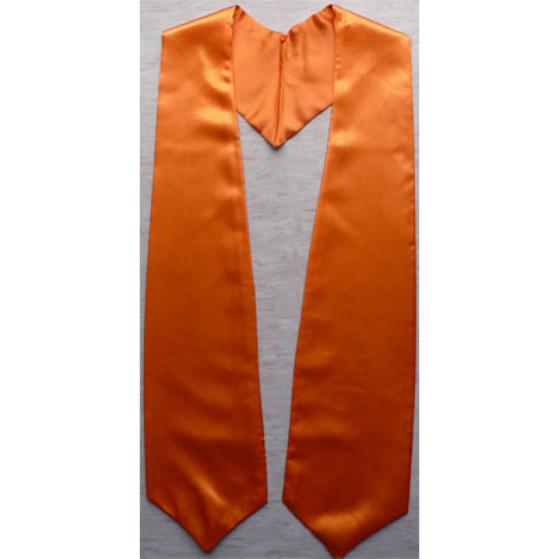 Orange Graduation Stole