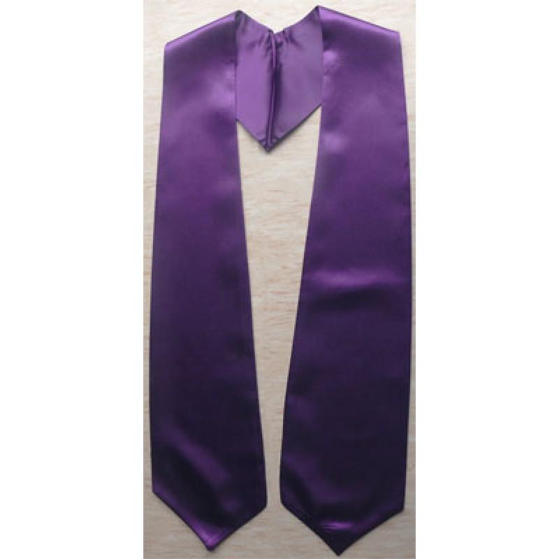 Purple Plain Graduation Stoles