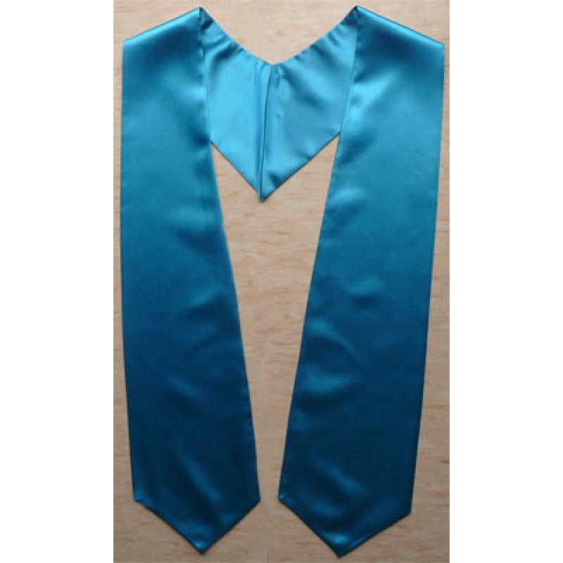 Turquoise Blue Graduation Stole