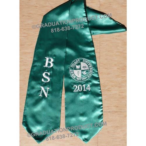 BSN , West Coast University Graduation Stole