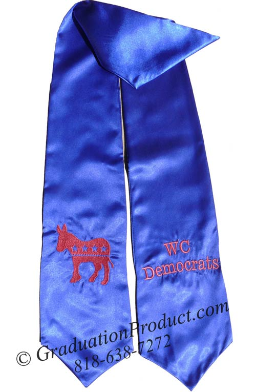 WC Democrates Graduation Stole