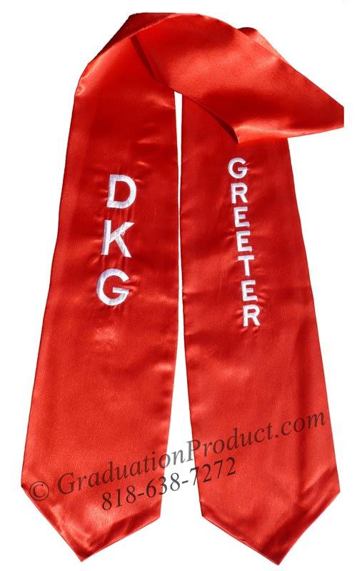 DKG Greeter Graduation Stole