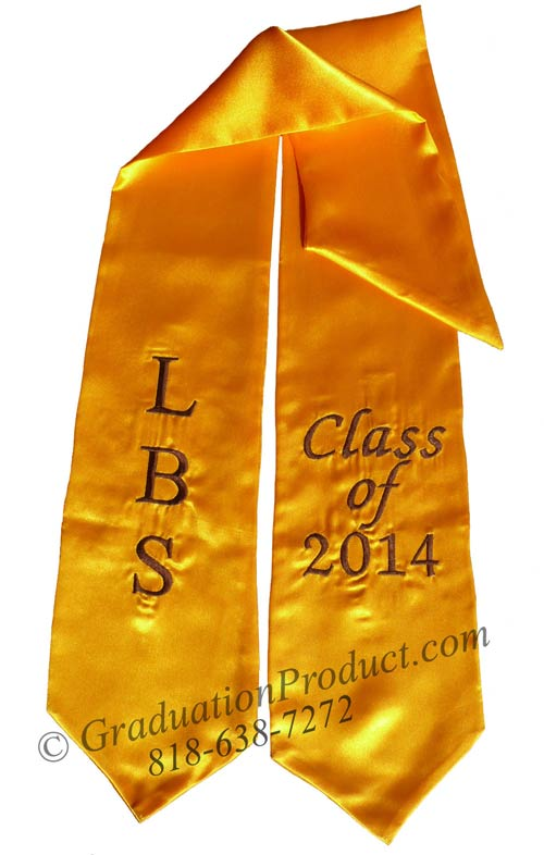 LBS Class of 2015 Gold Graduation Stole