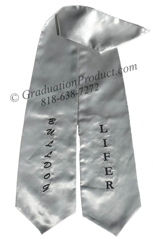 Lifer Bulldog Graduation Stole
