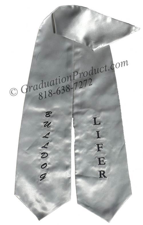 Lifer Bulldog Graduation Stole