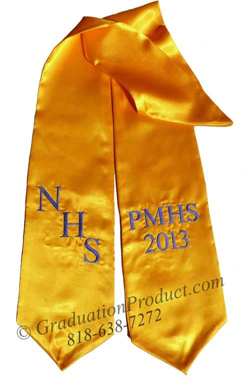 NHS PMHS 2015 Graduation Stole