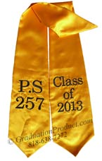 PS 257 Class of 2015 Graduation Stole