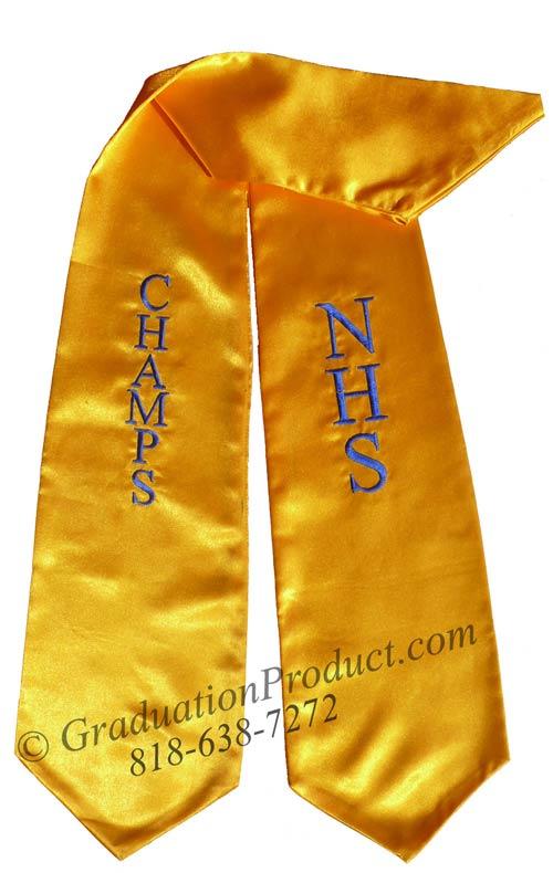 NHS Champs Graduation Stole