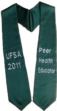 UFSA 2015 Peer Health Educator Graduation Stole