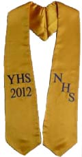 NHS YHS 2015 Graduation Stoles