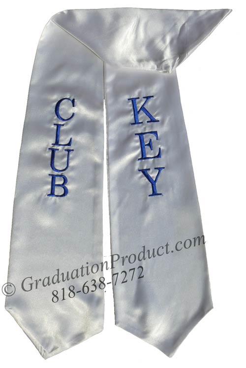 Club Key Graduation Stole