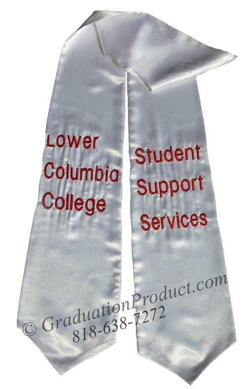 Lower Columbia College Graduation Stole
