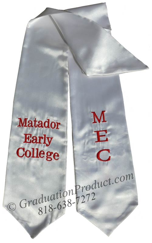 Metador Early College Graduation Stole