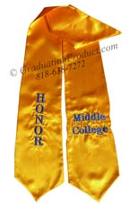Honor Middle College Graduation Stole