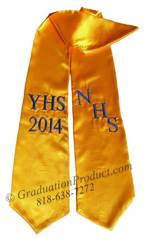 NHS YHS 2015 Graduation Stole