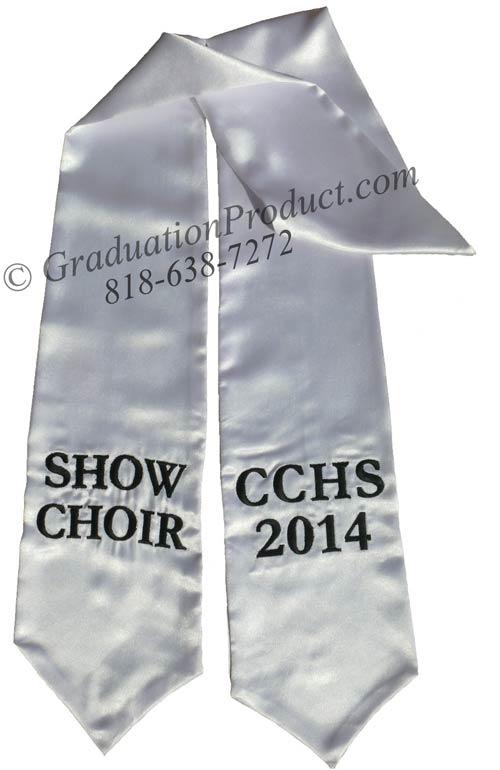 Show Choir CCHS 2015 Graduation Stole