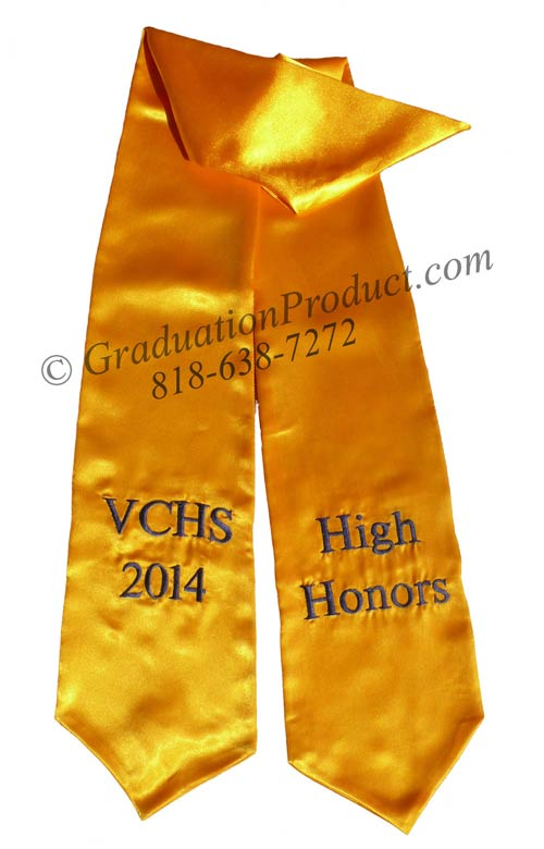VCHS 2015 High Honors Graduation Stole